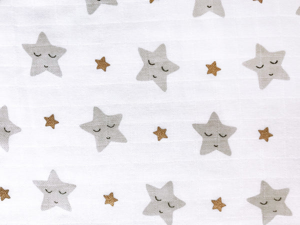 'Sleepy Star' Organic Muslin Sleeping Bag (Gold)