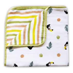 Organic Muslin Blanket - Happy As A Hippo