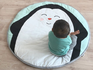 Indoor/Outdoor Quilted Playmat – Penguin