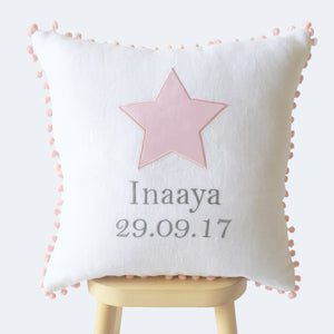 Personalised Name & Birth Date Cushion