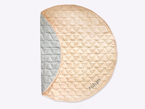 Indoor/Outdoor Quilted Play Mat (Peach)