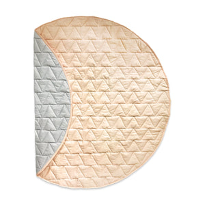 Indoor/Outdoor Quilted Play Mat – Peach