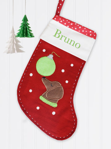 'Puppy' Christmas Stocking