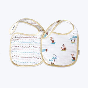 'Puppy Paradise' Organic Muslin Classic Bibs (Pack of 2)