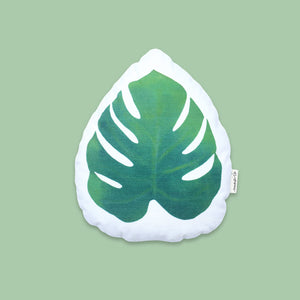 Organic Shape Cushion - Tropical Leaf