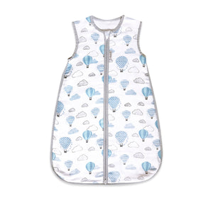 Organic Muslin Sleeping Bag – Up, Up & Away (Blue)