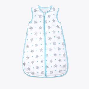 Organic Muslin Sleeping Bag – Sleepy Star (Blue)