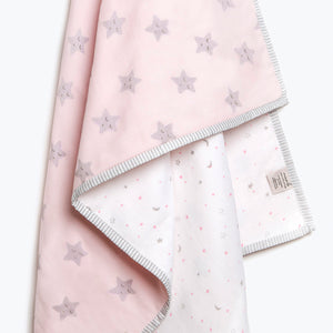 Organic Cotton Dohar - Sleepy Star (Blue)
