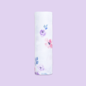 Bamboo Muslin Swaddle - Bloom