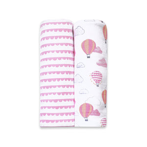 Organic Muslin Swaddles (Set of 2)