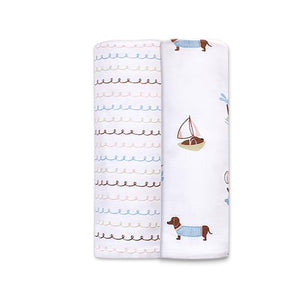 Organic Muslin Swaddles (Set of 2) - Puppy Paradise