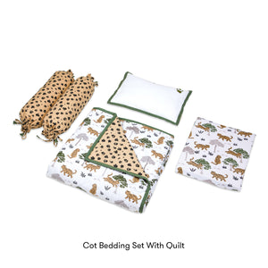 Organic Cotton Cot Bedding Set – Born To Be Wild