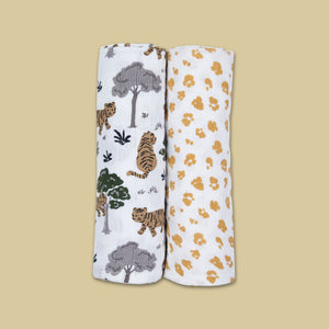 Organic Muslin Swaddles (Set of 2) - Never Stop Dreaming