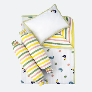 Mini Cot Set – Tropical Toucan