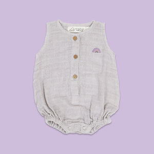 Baby Romper - Happy As A Hippo (Rose)