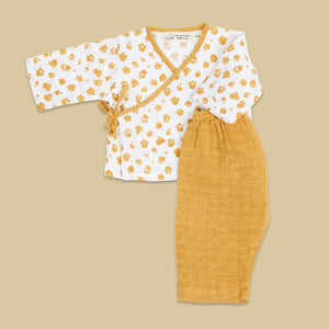 Kimono Lounge Set - Happy As A Hippo (Meadow)