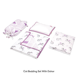 Organic Cotton Cot Bedding Set – Never Stop Dreaming