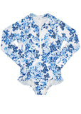Seafolly UV sunsuit - china blue