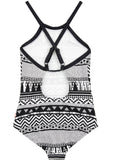 Seafolly girls swimsuit - black white