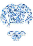 Seafolly UV two piece suit - floral blue