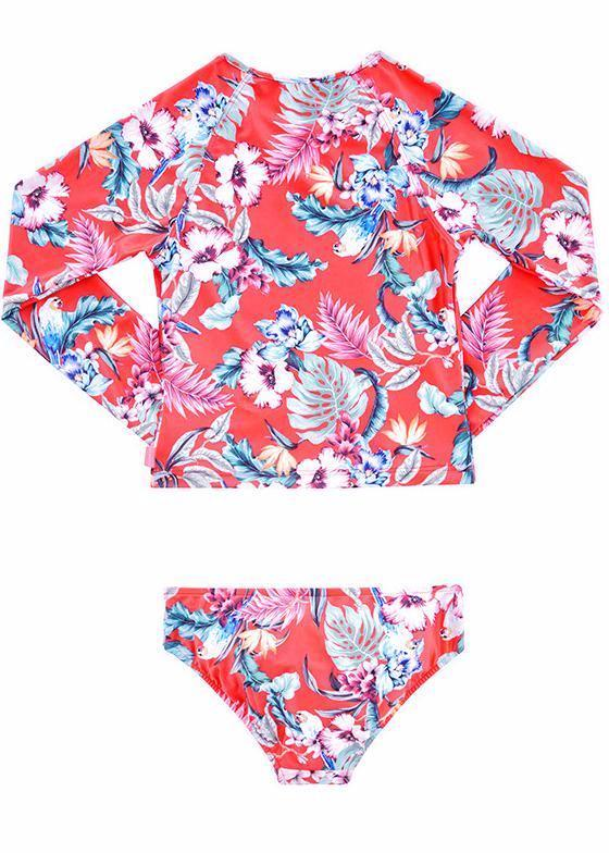 Seafolly UV two piece suit - hawaii red