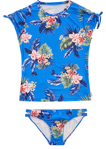 Seafolly UV two piece suit - emerald flower