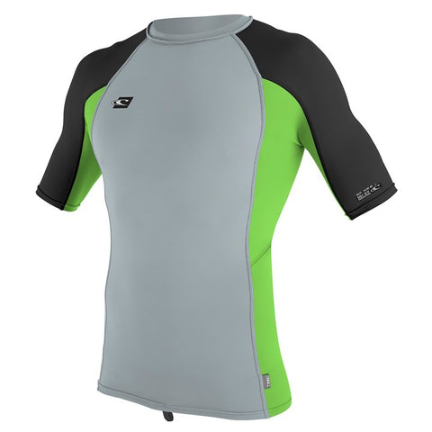 O'Neill youth rash top - black/lime