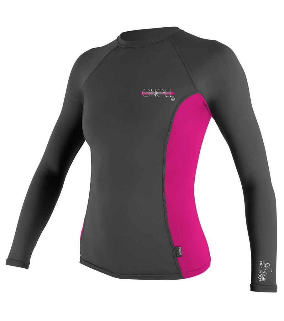 O'Neill womens rash top - graphite berry
