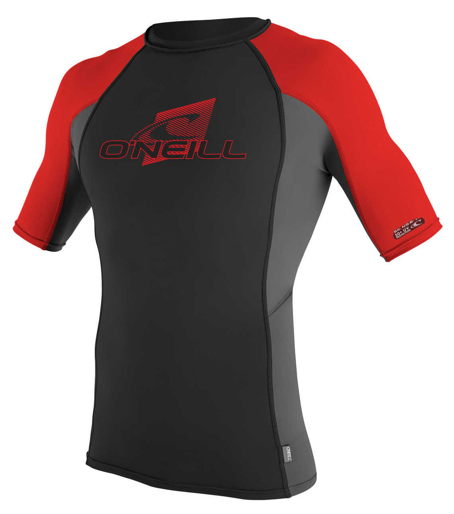 O'Neill youth rash top - black red