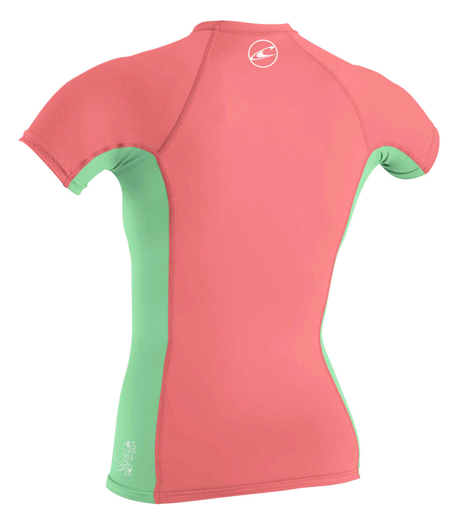 O'Neill girls rash top - coral mint