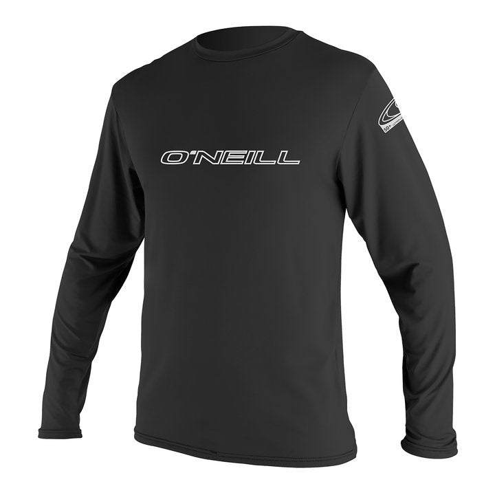 O'Neill mens rash tops - grey/black