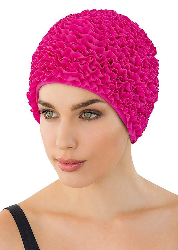 Fashy swimming cap - bright pink frills