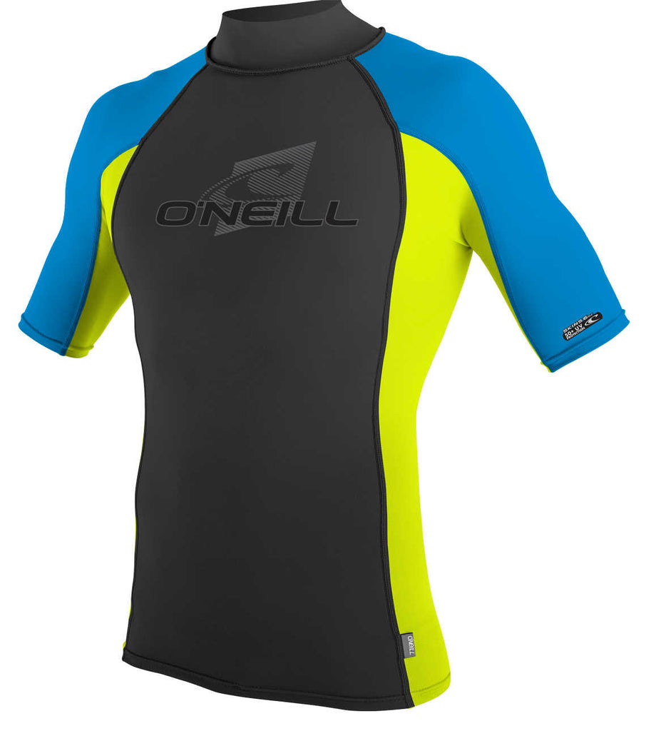 O'Neill mens rash top - lime blue