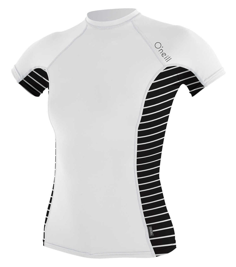 O'Neill womens rash top - white coastal