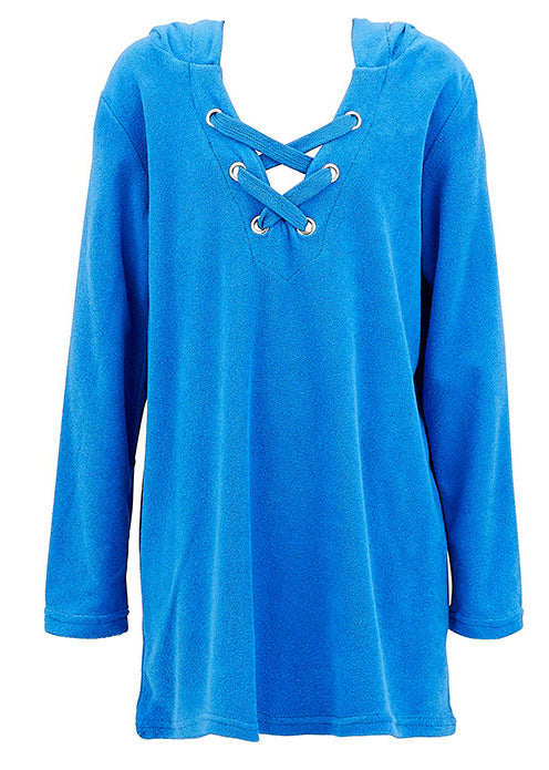 Seafolly girls kaftan - hawaii blue towelling