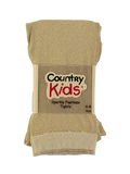 Country Kids sparkly tights - gold