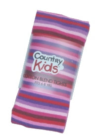 Country Kids tights - berry stripe
