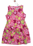 Boboli girls dresses - cerise flower