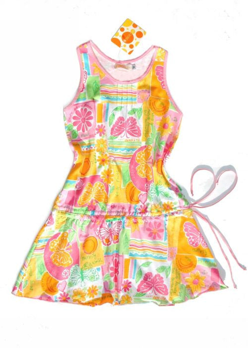 Boboli girls dresses - pink butterfly