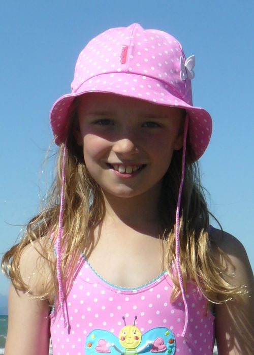 Boboli girls hats - raspberry