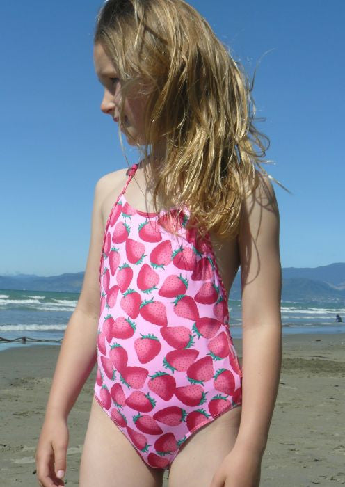 Boboli girls swimsuits - strawberry