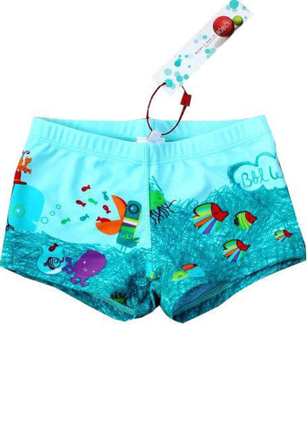 Lentiggini boys swimshorts - blue fish