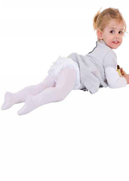 Country Kids ruffle tights - white