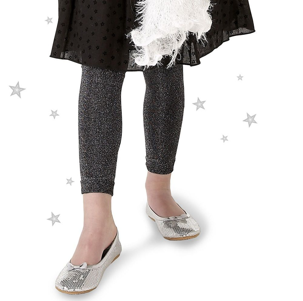 Country Kids sparkly tights - footless black