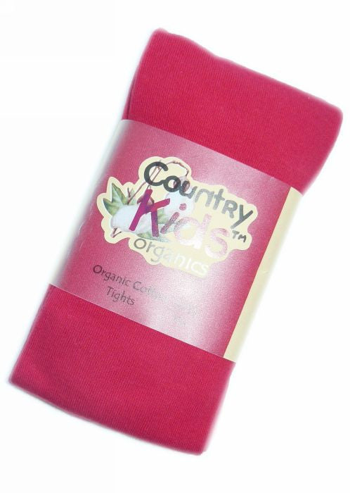 Country Kids organic tights - red