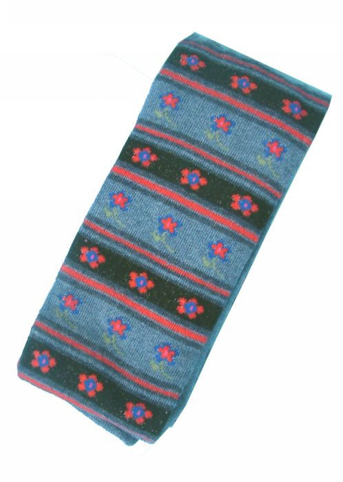 Country Kids tights - dark denim daisy stripe