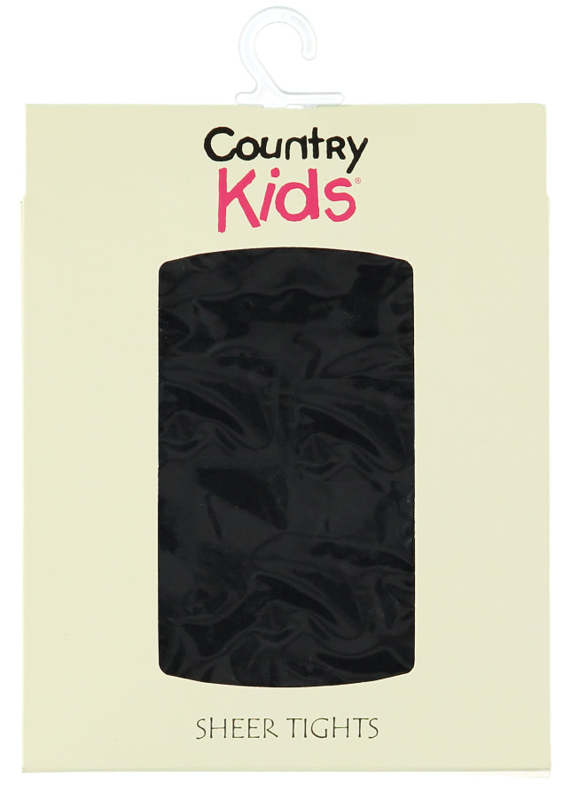 Country Kids sheer tights - black
