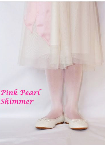 Country Kids sheer tights - pearl pink