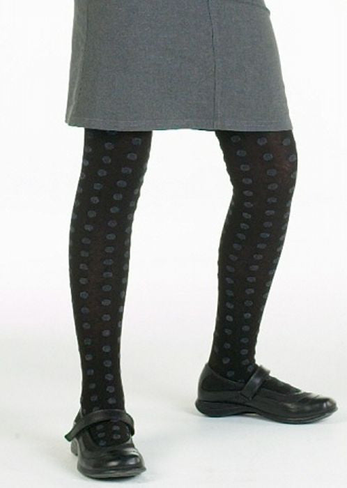 Country Kids tights - fluffy dot black