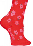 Country Kids tights - floral red